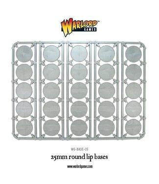 Bolt Action 25mm round lip bases sprue