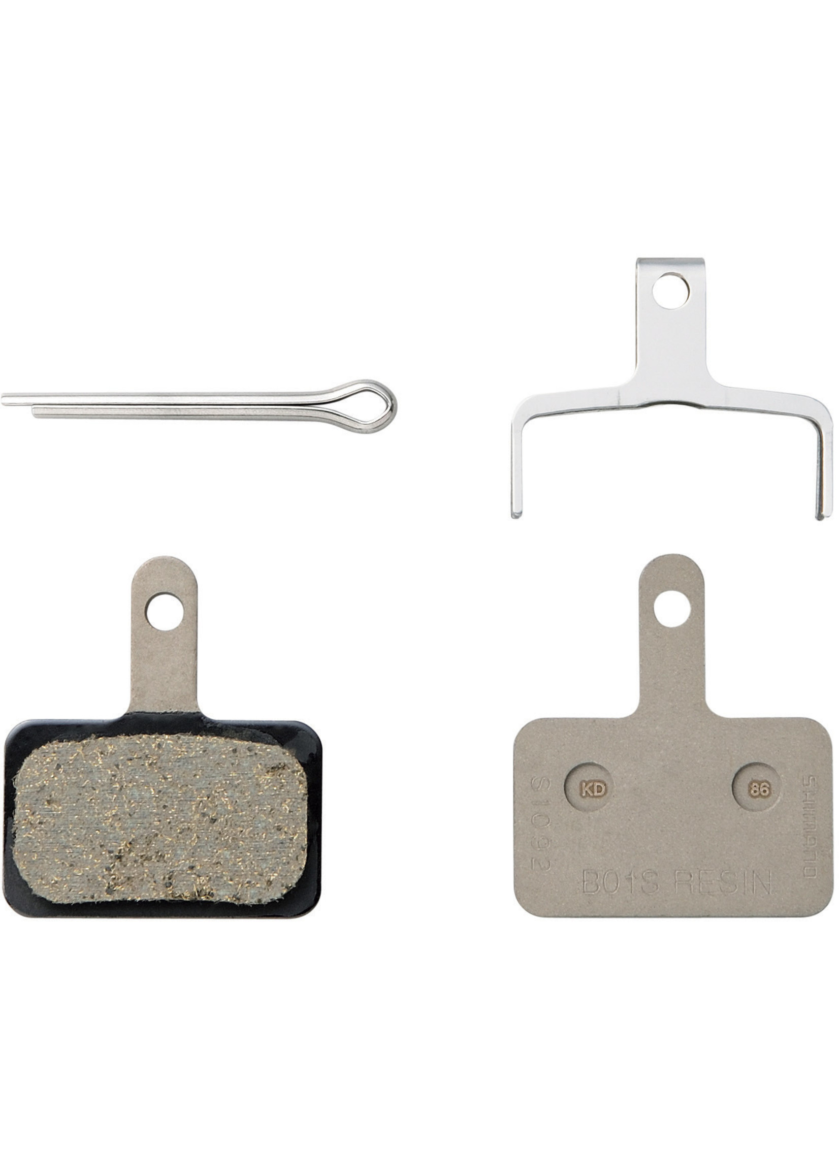 Shimano Spares B01S disc brake pads and spring, steel backed, resin