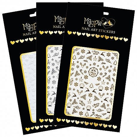 Magpie 001 X-mas Silver stickers
