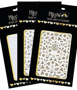 Magpie 001 X-mas White stickers