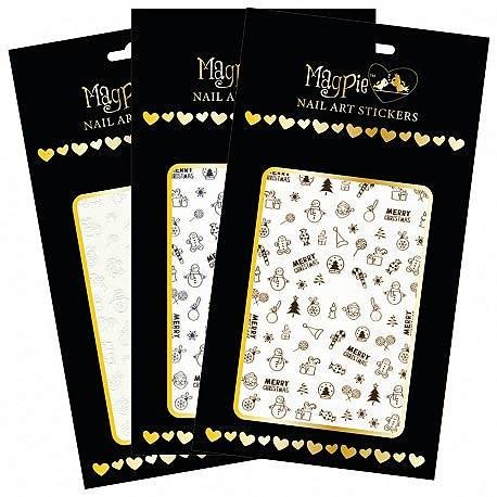 Magpie 002 X-mas White stickers