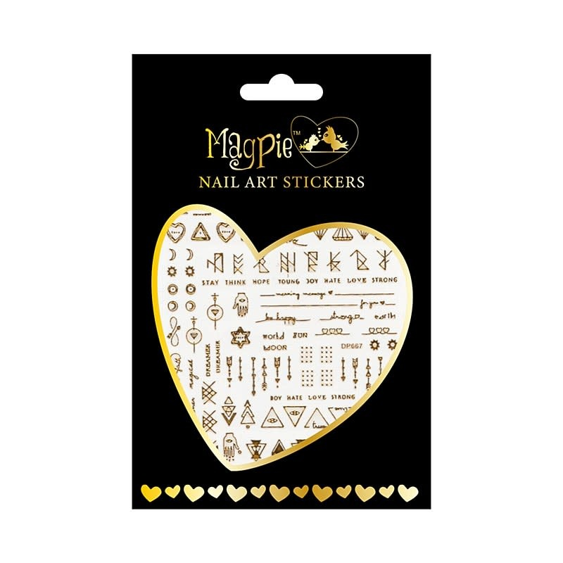 Magpie 016 Gold stickers