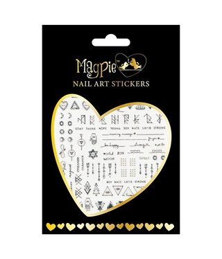 Magpie 016 Silver stickers