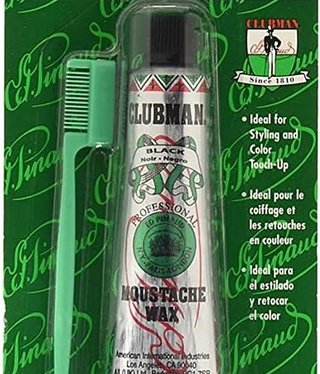 Clubman Moustache Wax Black .5oz