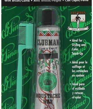 Clubman Moustache Wax Chestnut .5oz