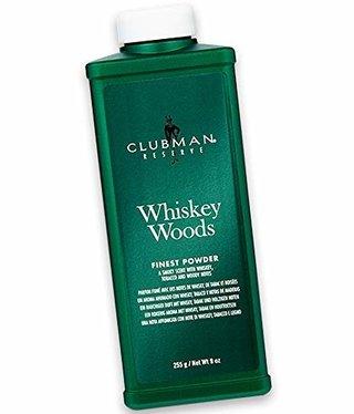 Clubman Whiskey Wood Cornstarch Powder 9oz