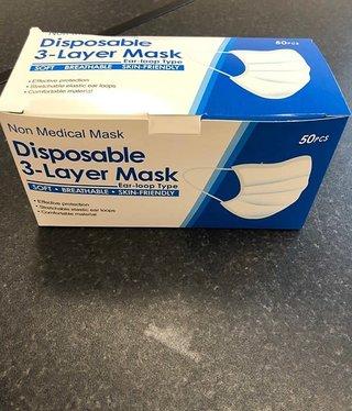 Facial Masks 3ply 50pack