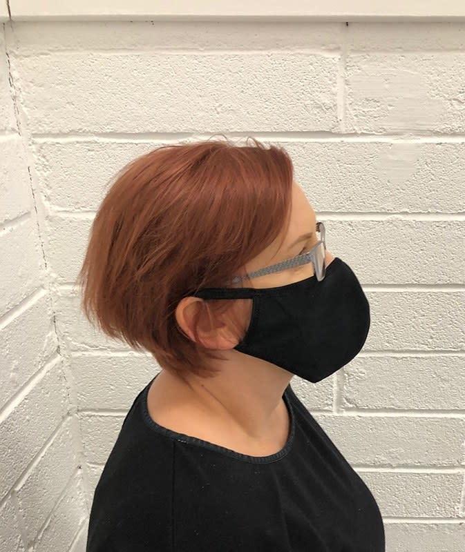 Black Reusable Facial Mask 2pk