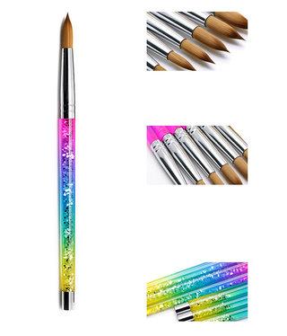 Rainbow Kolinsky No 8 Acrylic Brush