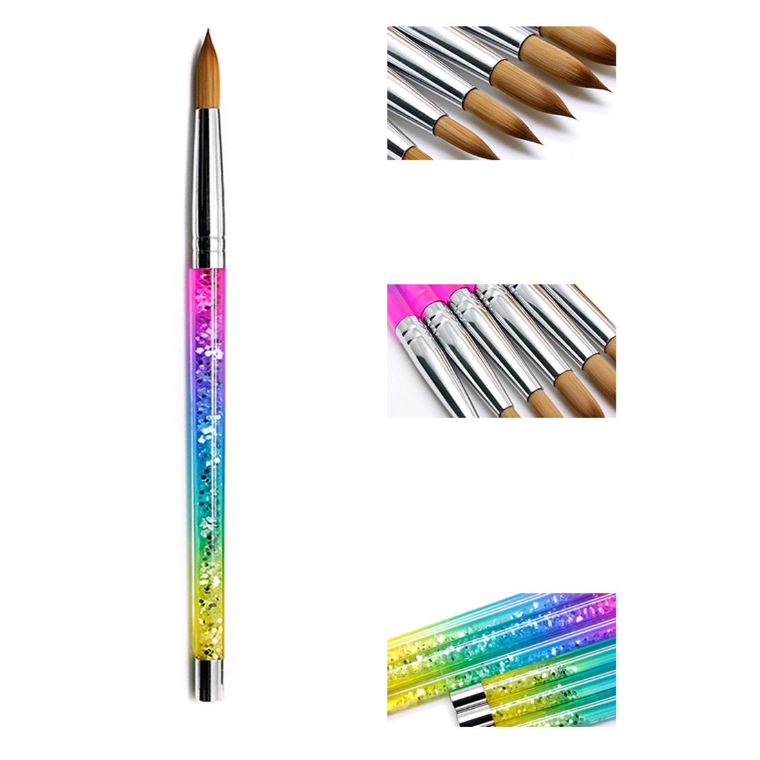 Rainbow Kolinsky No 12 Acrylic Brush