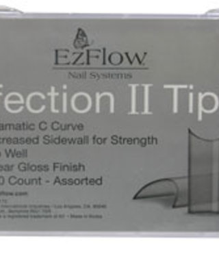 Ezflow Perfection II Tips-Crystal Clear