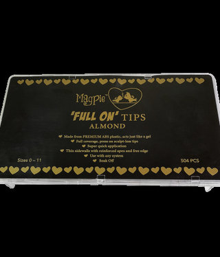 Magpie MP FULL ON TIPS Almond 504pc