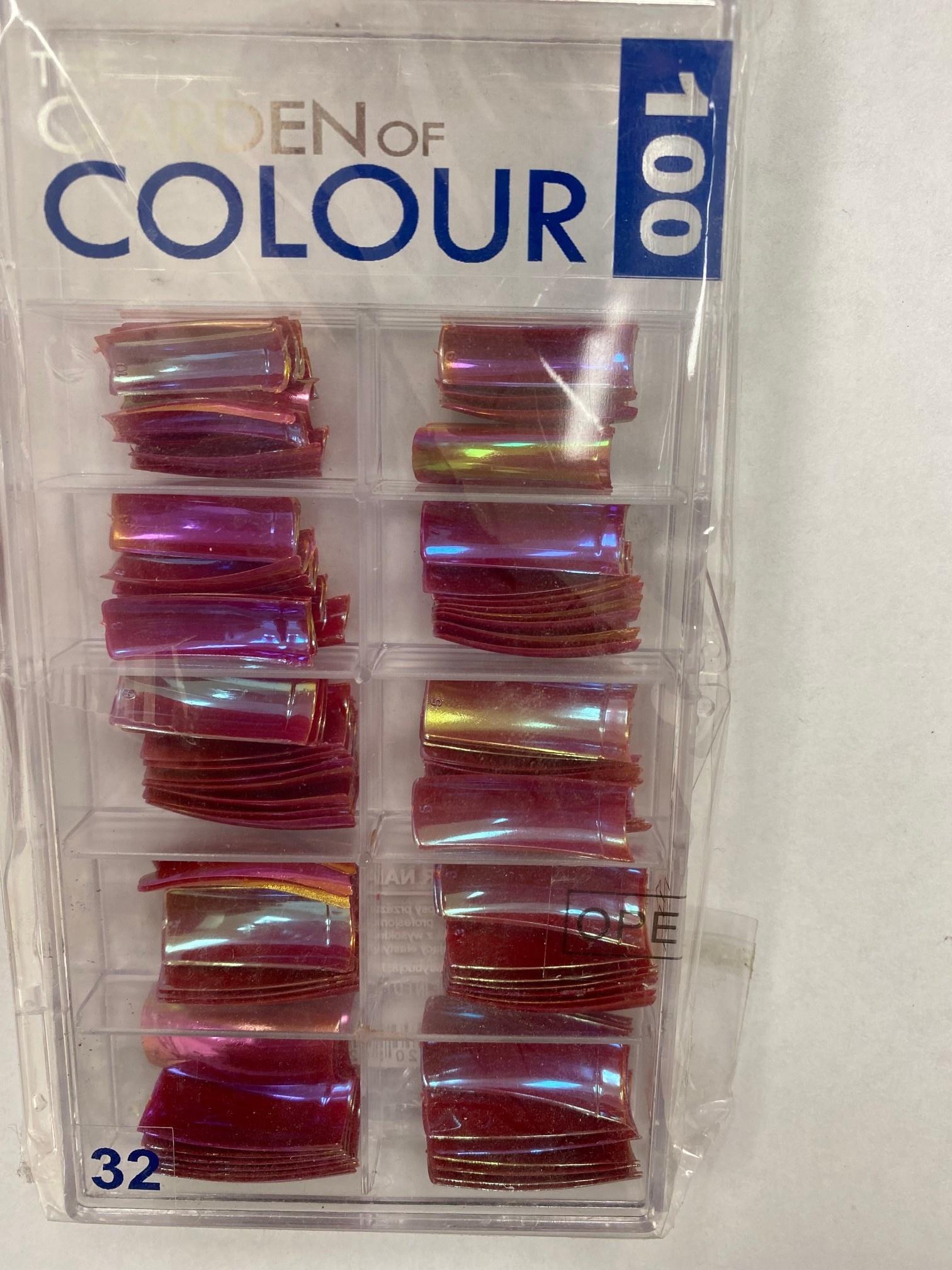 Garden Of Colour Tips Pink Holo 100pk