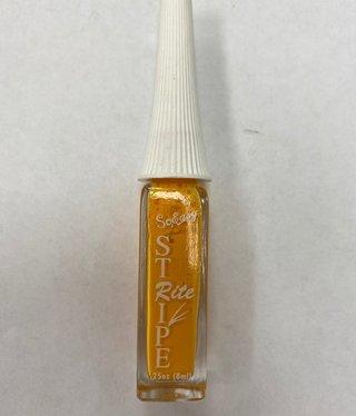 Stripe rite Nail Art  Orange
