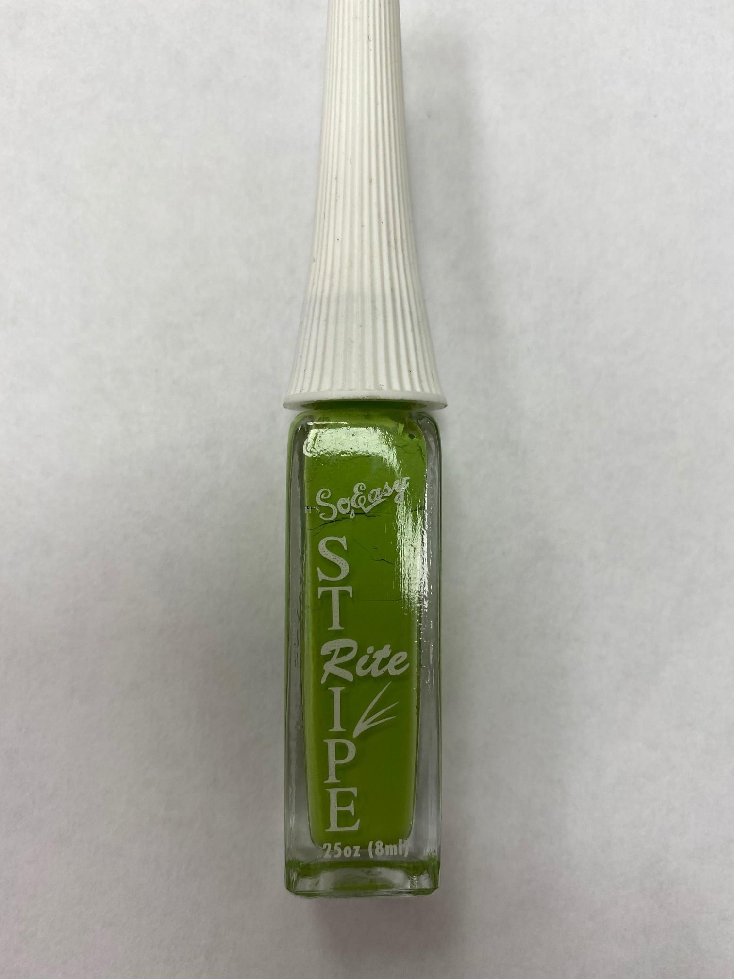Stripe rite Nail Art  Green
