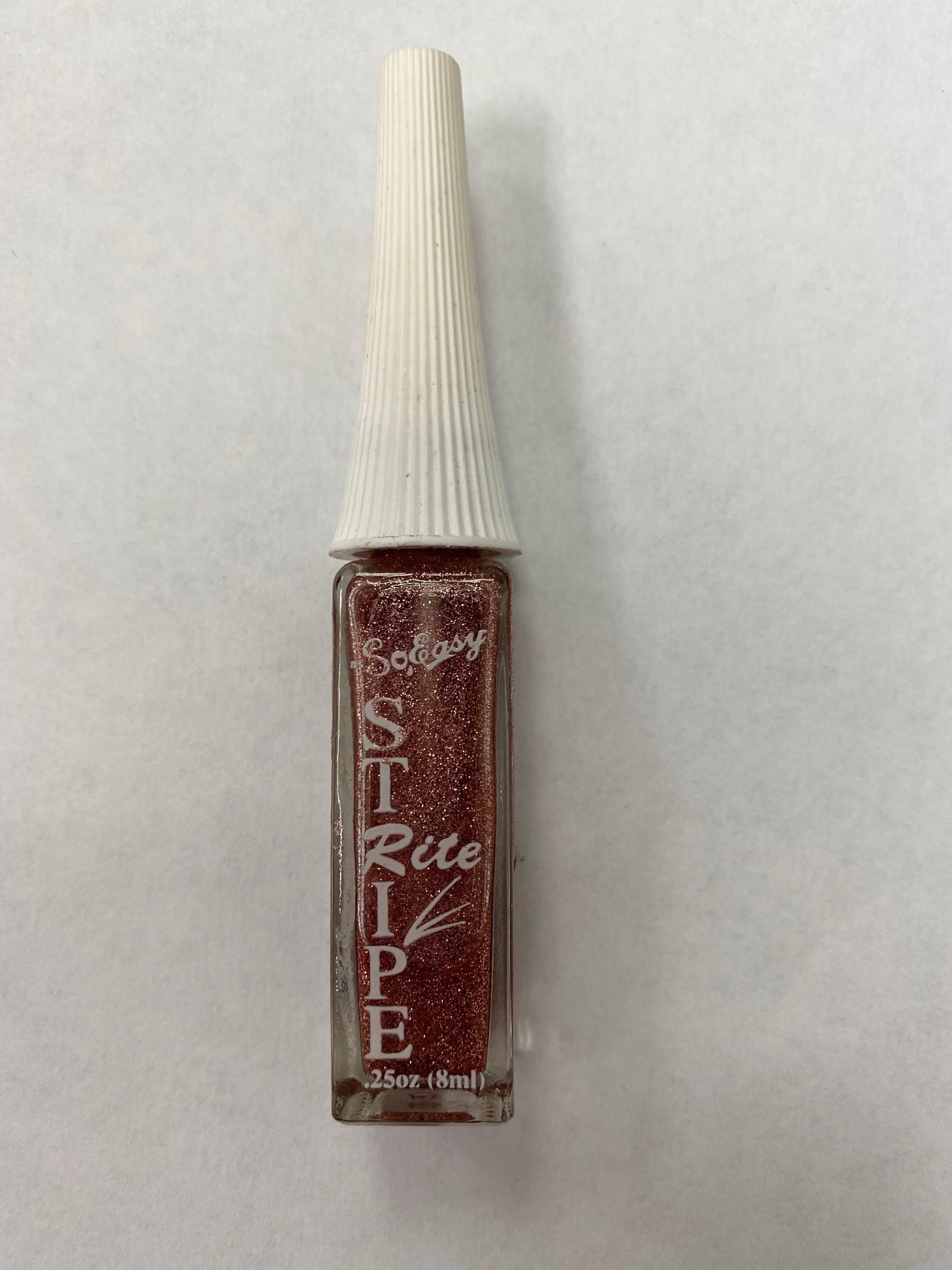 Stripe rite Nail Art Rose Glitter