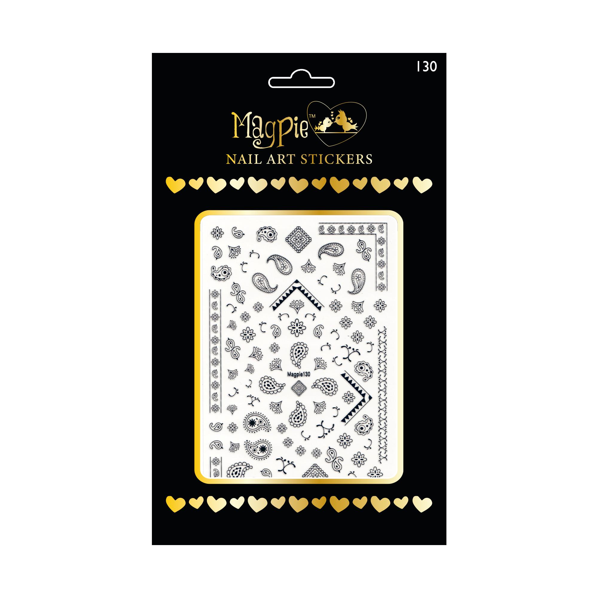 Magpie 130 black stickers