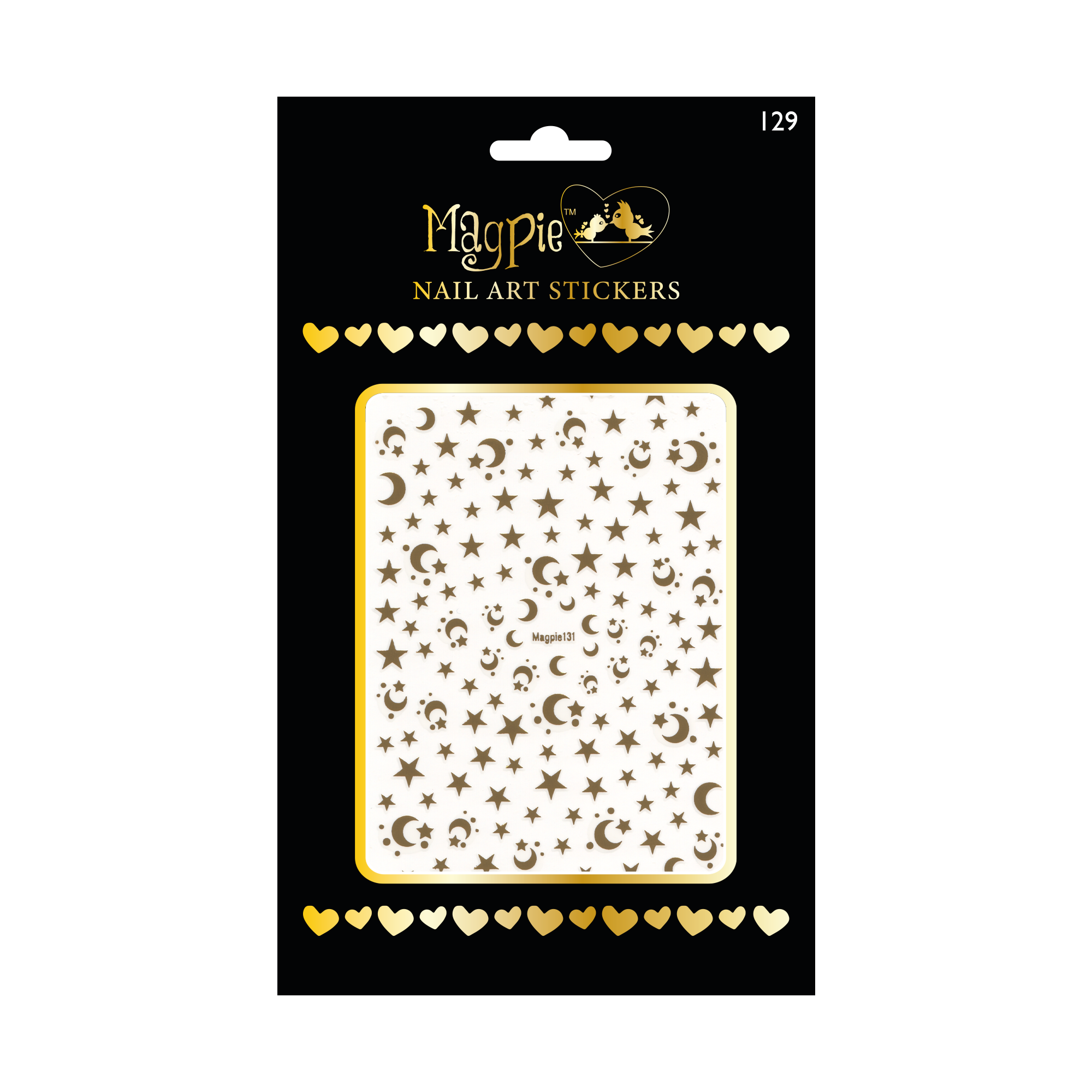 Magpie 131 gold stickers