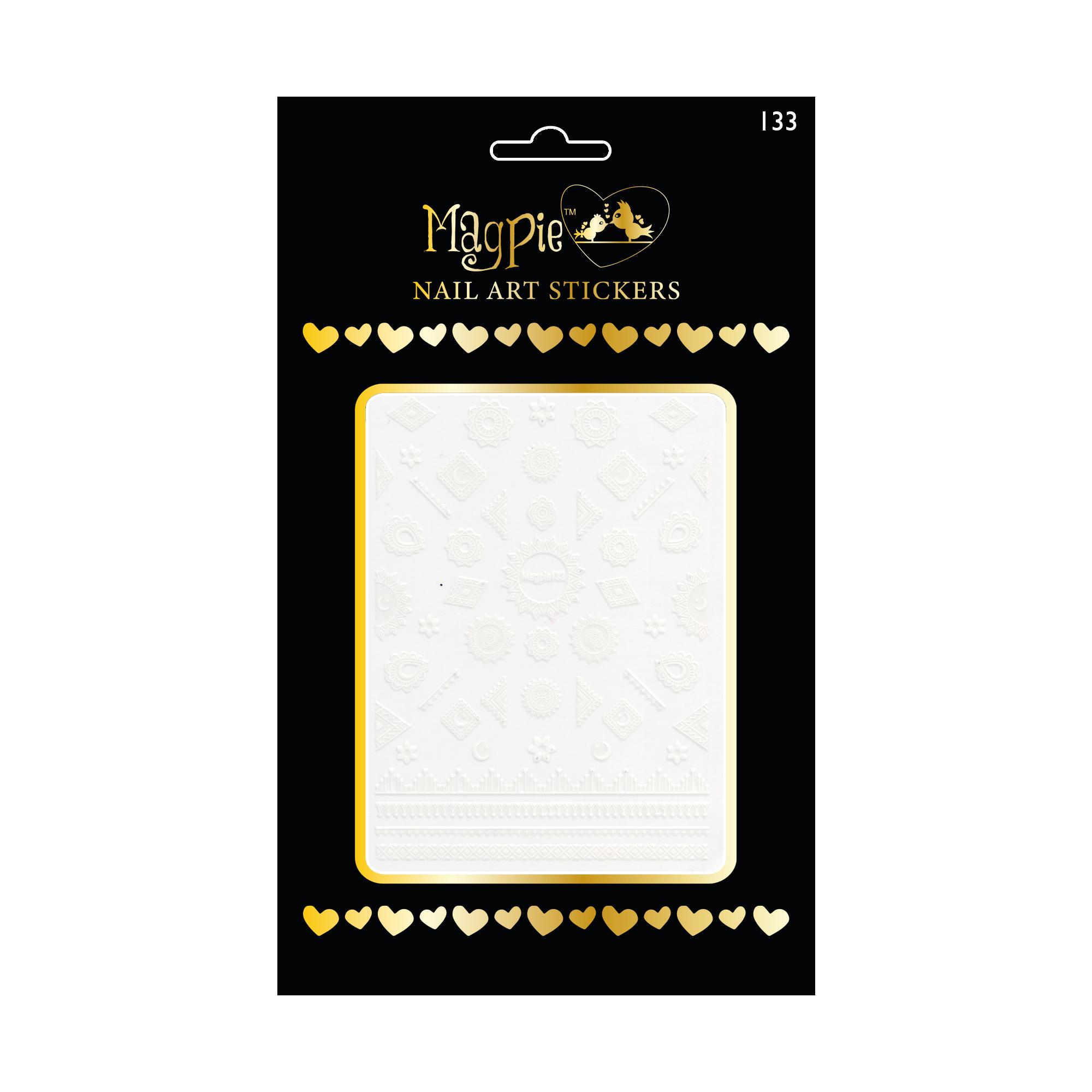 Magpie 133 white stickers