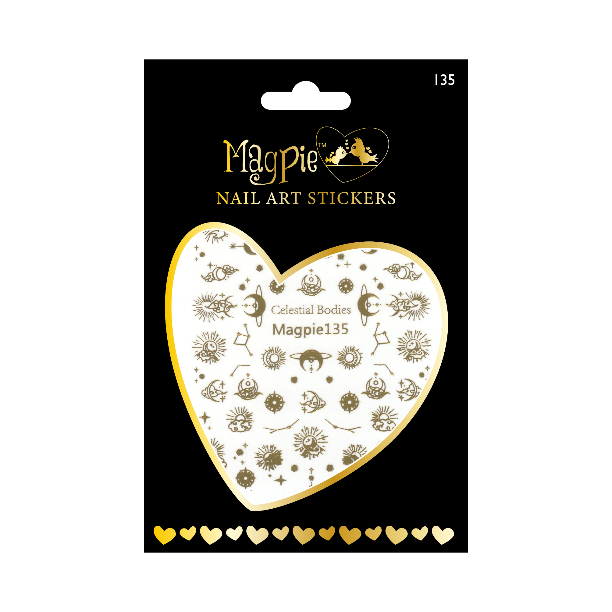 Magpie 135 gold stickers
