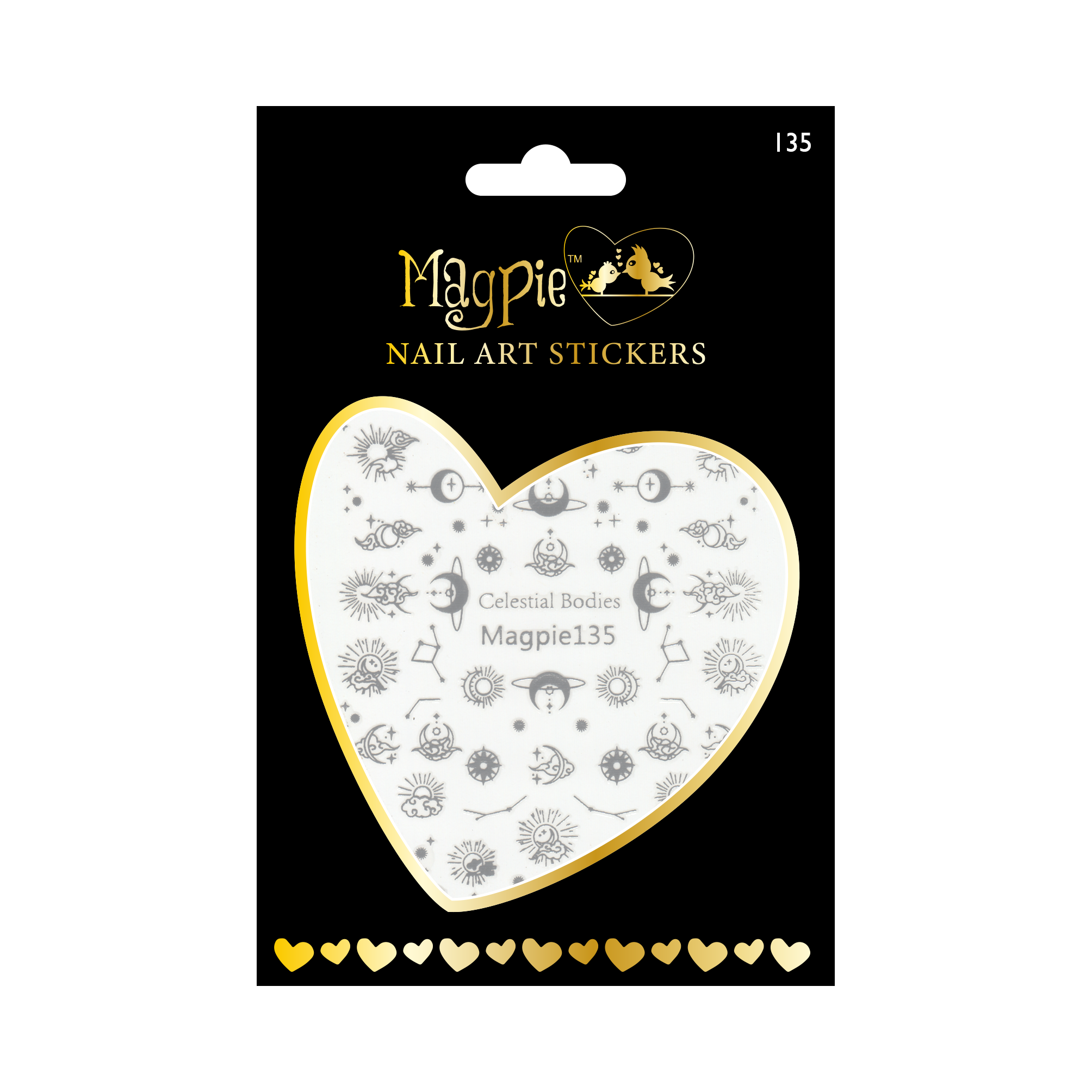 Magpie 135 silver stickers