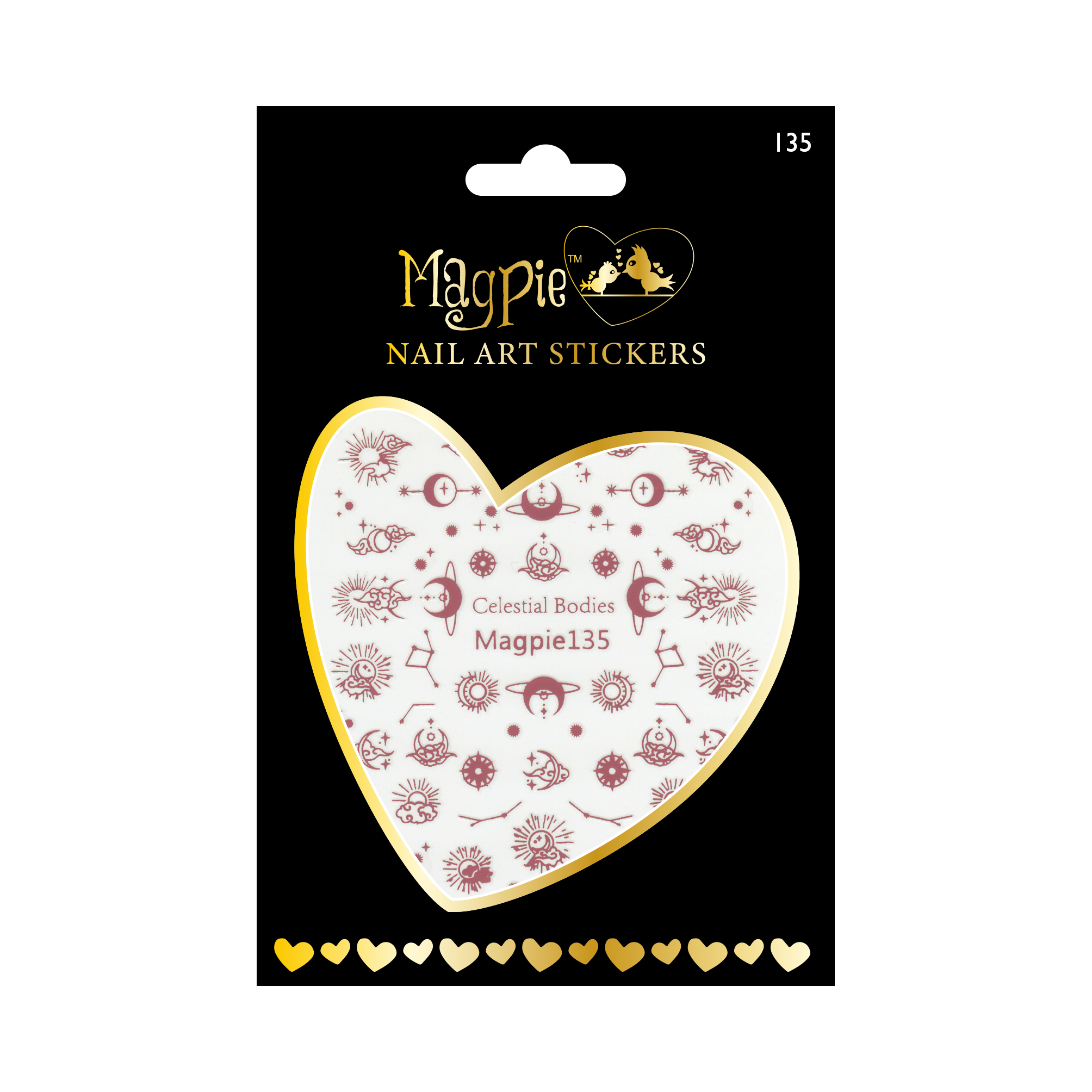 Magpie 135 rose gold stickers