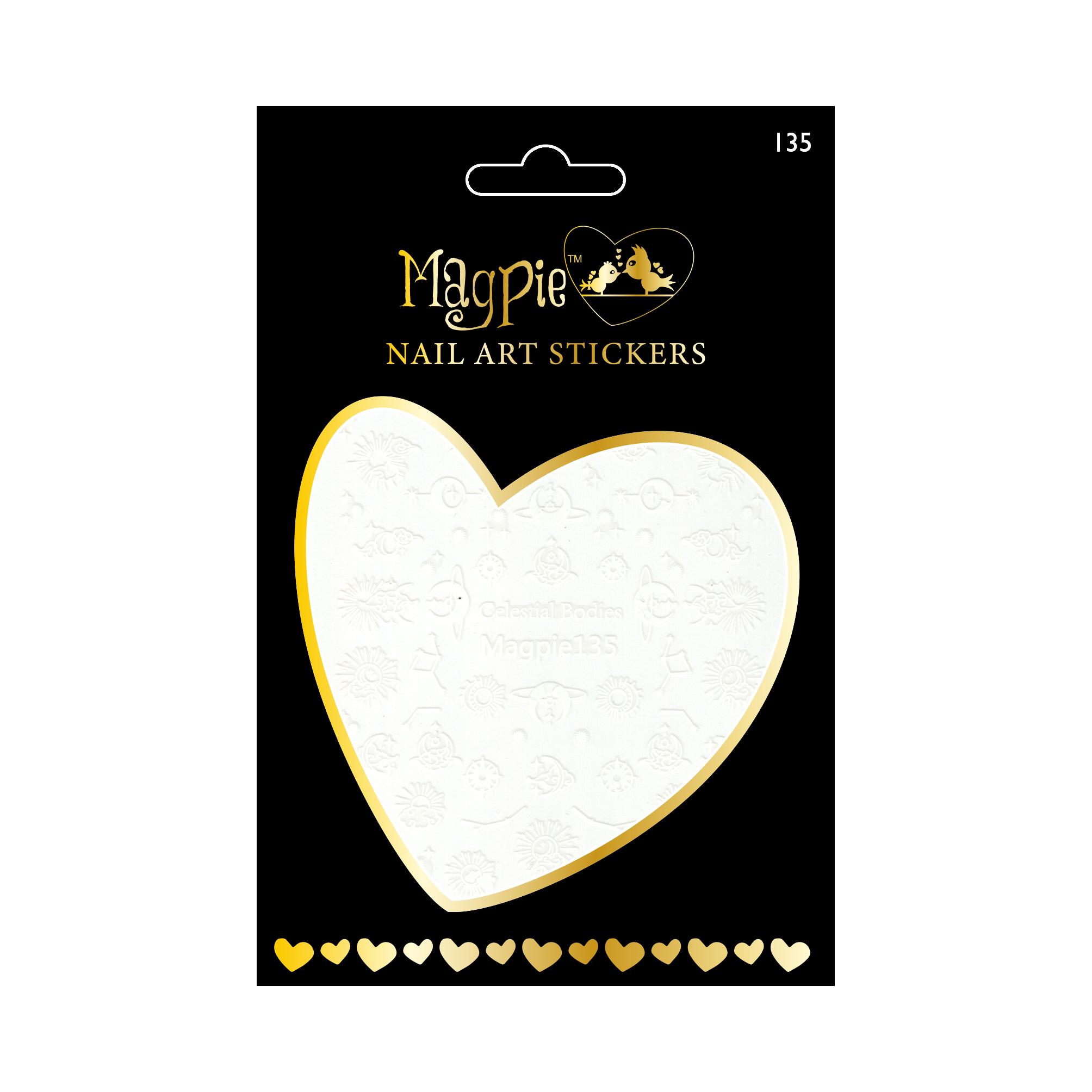 Magpie 135 white stickers