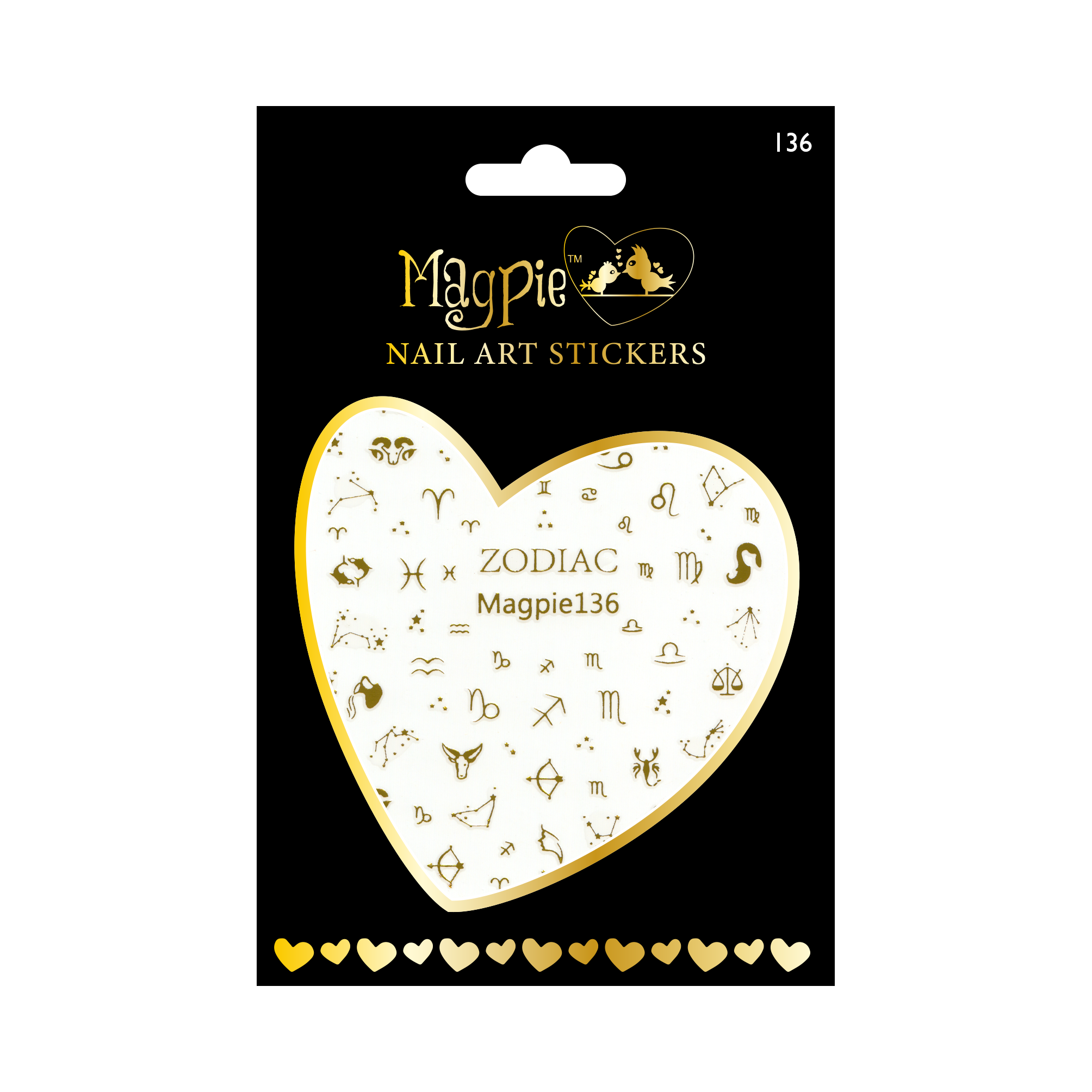 Magpie 136 gold stickers