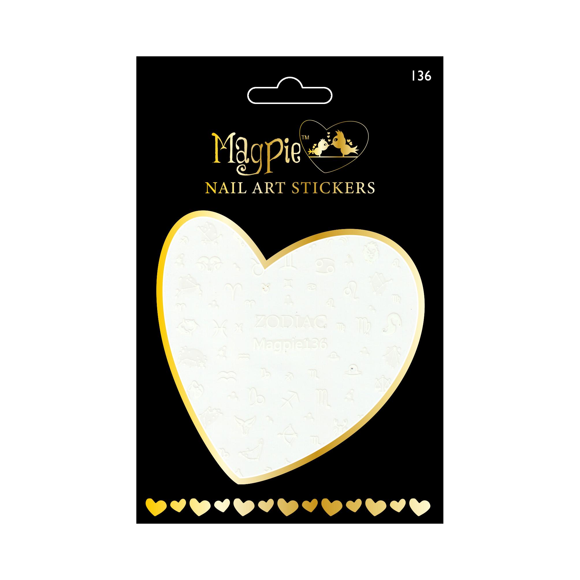 Magpie 136 white stickers