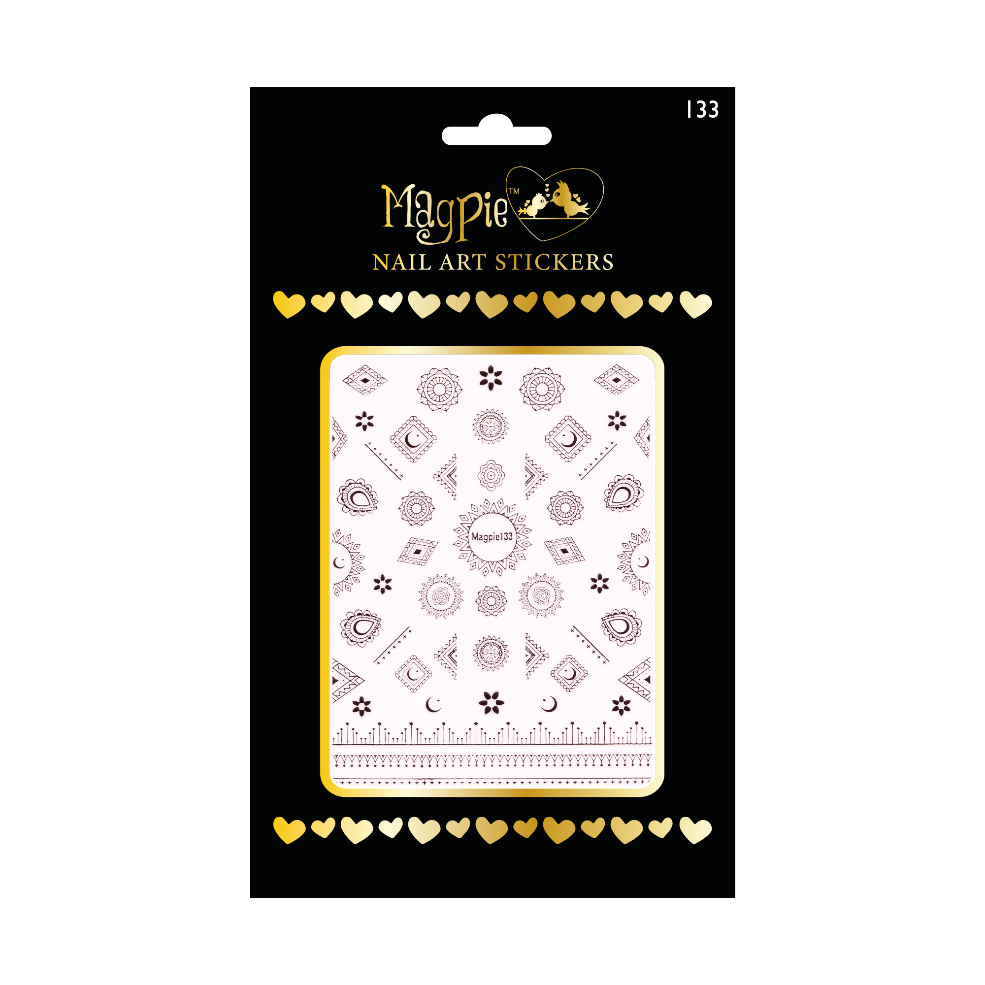 Magpie 133 rose gold stickers