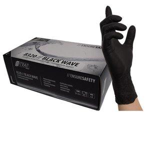 BLACK Nitrile Gloves Size XS