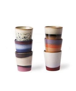 70 ceramics coffee mug (set van 6)