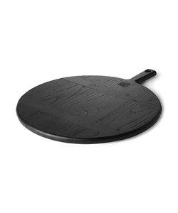 planche à pain noire ronde - M