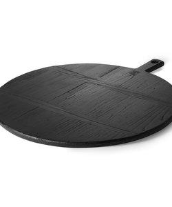 planche à pain noire ronde - XL