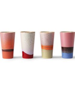 latte mok (set van 4)