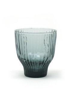 Handgemaakt blauwgrijs gekleurd glas