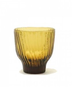 Handgemaakt brons gekleurd glas