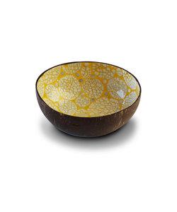 Bol en noix de coco au finition coquille d'oeuf jaune - Noya