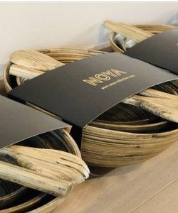 Set van 3 slakommen in bamboe met slabestek Noya