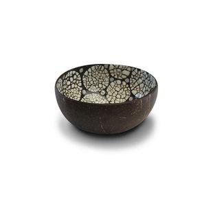 Coconut bowl eggshell zwart-wit