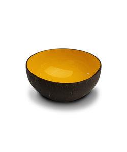 Bol en noix de coco au finition luxueuse jaune