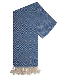 Serviette hamam en bleu et blanc