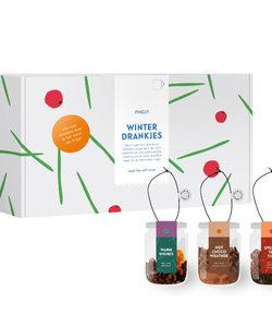 Luxe cadeaubox 3 winterdrankjes - relatiegeschenk