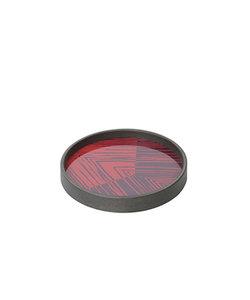 "Mini tray ""Midnight linear circles"" in rood en blauw"