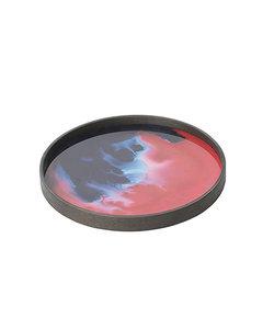 "Mini tray ""Midnight Raspberry Organic"" in rood en indigo"