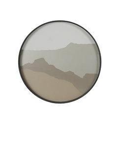 Klein rond dienblad sand wabi sabi
