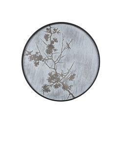 Klein houten dienblad met lentebloesem