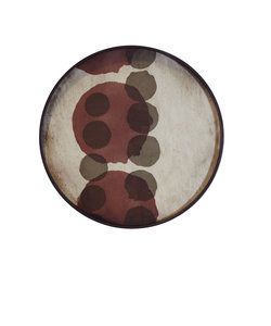 rond dienblad layered dots
