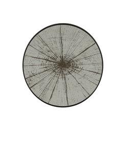 Klein dienblad 'slice mirror': houtschijf op spiegel