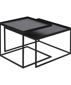Laag set van 2 vierkante tafeltjes